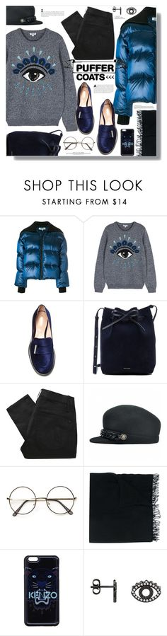 """Stay Warm: Puffer Coats"" by tinkabella222 on Polyvore featuring Kenzo, Nicholas Kirkwood, Mansur Gavriel, Marc by Marc Jacobs, Faliero Sarti and puffercoats"