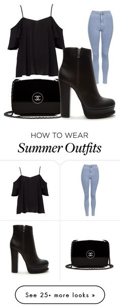 """""""Summer Outfit"""" by magiclovemagic on Polyvore featuring Topshop, Chanel and Forever 21"""