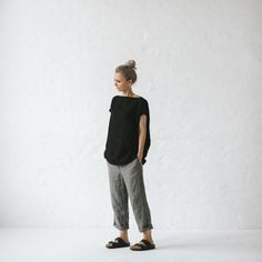 Seaside tones - linen top