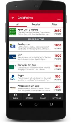 GrabPoints - Free Gift Cards!