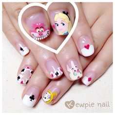 Alice in Wonderland nails ♡♡♡ Facebook:Kewpie nail  #nail…