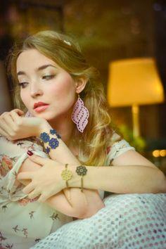 lace earrings and bracelets