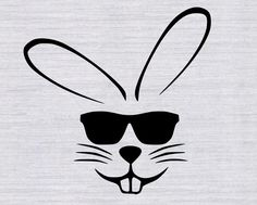 Easter Bunny with sunglasses SVG cutting by RelentlessmediaArt