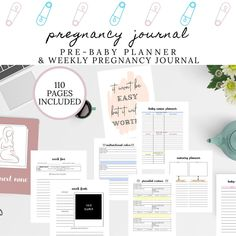 Pregnancy Journal and Planner | Journal for Baby, Weekly Pregnancy Journal | Mom Journal | Pre Baby Planning, Shower, Nursery, Doctor Log by DesignerJaim on Etsy Pregnancy Journal, Pregnancy Quotes, Weekly Pregnancy, Pregnancy Test, Pregnancy Checklist, Pregnancy Calculator, Pregnancy Health, Pregnancy Workout, Bump Pictures