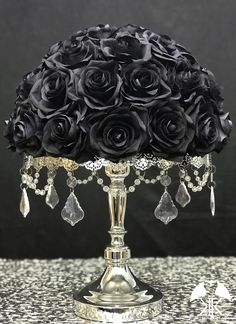 Discover recipes, home ideas, style inspiration and other ideas to try. Cream Roses, Blush Roses, Purple Roses, Purple Ombre, Black Centerpieces, Wedding Centerpieces, Wedding Decorations, Rustic Flower Girls, Rustic Flowers