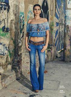Catálogo de Studio F Summer Outfits, Casual Outfits, Cute Outfits, Hippie Style, Denim Fashion, Boho Fashion, Jumpsuit Denim, Denim Studio, Estilo Jeans
