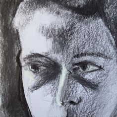 Mack. Unfinished.detail. #favouriteson #charcoaldrawing #charcoal…