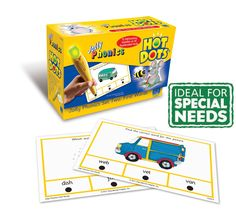 Hot Dots Jolly Phonics First Words Card Set offer independent work with the self-checking pen! All 42 Jolly Phonics letter sounds are included. #sen #jollyphonics #hotdots