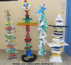 Recycled Robot, Recycled Crafts, Projects For Kids, Art Projects, Recycling, Sculpture Lessons, Art Courses, Process Art, Preschool Art