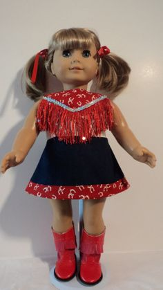 American Girl Doll Clothes  Cowgirl & Boots by susiestitchit, $21.50