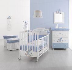 Erbesi Serie Lilo & Giò für ein stylishes Kinderzimmer in weiß und blau