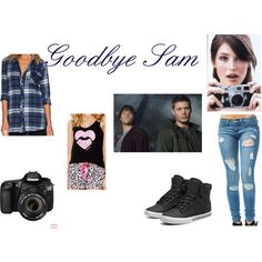 Goodbye Sam by emma-frost-98 on Polyvore featuring Tolani, Wet Seal, Supra, Eos and supernatural