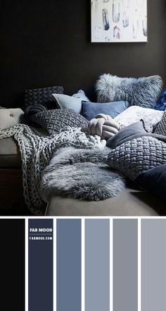 Blue Bedroom Colors, Navy Blue Bedrooms, Bedroom Colour Palette, Bedroom Color Schemes, Decorating Color Schemes, Interior Colour Schemes, Paint Colors For Home, House Colors, Colorful Kitchen Decor