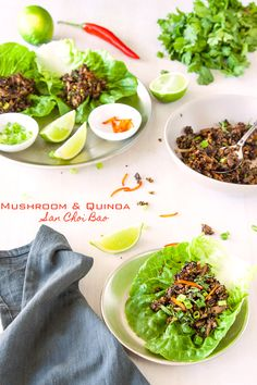 Vegetarian San Choi Bao with mushrooms and quinoa #vegan #vegetarian #healthy    deliciouseveryday.com