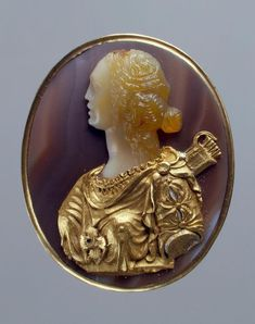 Diana. Place of creation: Italy (cameo). France. Date: Late 15th - early 16th century (cameo), ca. 1555. Material: agate, onyx- cornelian, gold, enamel.