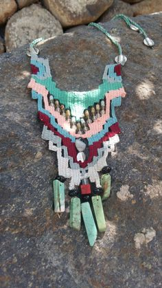 Needleweaving necklace by Kissiris on Etsy