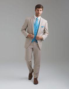 Gentleman Tuxedos Beige Groom Tuxedo With Sky Blue Vest Notch Lapel Men Wedding Suit Best Man Formal Prom Suits Slim Fit 3 Piece-in Suits from Men's ...