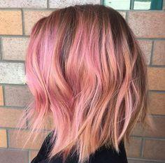 Sherbet pink bob by Katie Sanchez