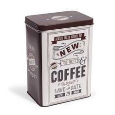 Scatola per caffè marrone H 18 cm RETRO