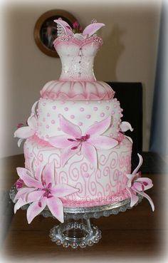 pink and white cake cake decorating ideas