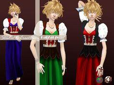 Medieval edge-long dress at Studio K-Creation via Sims 4 Updates