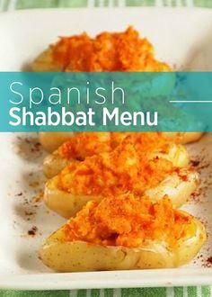 A Spanish Shabbat Menu. This week's Shabbat menu is made up of Spanish flavors and recipes. Kosher Recipes, Cooking Recipes, Healthy Recipes, Kosher Meals, Kosher Food, Meal Recipes, Passover Recipes, Jewish Recipes, Passover Meal