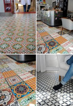 Third Floor Design Studio Challenge: Halloween Craft LOVE these floors delight by design: evening eye candy {artful drama} Floor Design, Tile Design, House Design, Floor Patterns, Tile Patterns, Pattern Ideas, Tuile, Vintage Tile, Interior Decorating