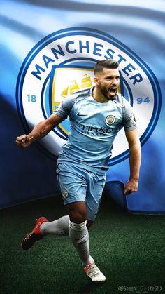 Kun aguero. Manchester city 16/17 home soccer jersey