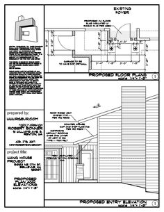 Plans and Elevations for a Garage Addition