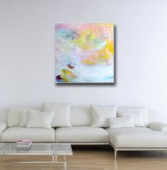 Large Wall Art Abstract Canvas Print from Painting by Tamarrisart