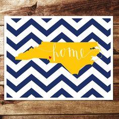 North Carolina Home Print by evannicoledesigns on Etsy, $15.00