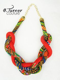 Large African Print Earrings - African from ETurnerCouture on