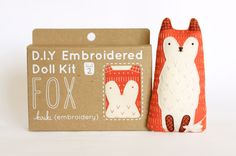 Fox - DIY Embroidery Kit by kirikipress