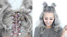 How To: Star Glitter Roots + Hairstyle! | by tashaleelyn