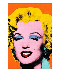 Piece together a pop of color with this Andy Warhol-inspired puzzle. Featuring the artist's famous image of Marilyn Monroe, it's a fun activity for the whole family to enjoy.