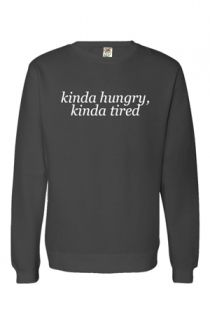 Kinda Hungry, Kinda Tired Sweatshirt (Charcoal) Outerwear - Troye Sivan Outerwear - Online Store on District Lines