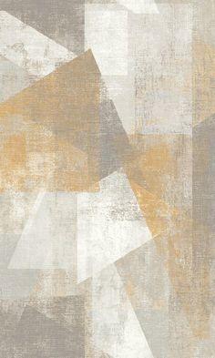 Wood Wallpaper, Geometric Wallpaper, Textured Wallpaper, Wallpaper Designs, Yellow Grey Wallpaper, Wall Decor Design, Bedroom Wall Colors, Contemporary Wallpaper, Carpet Colors