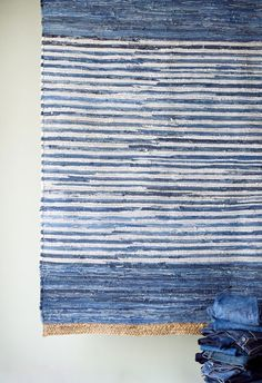 From denim jeans, rug