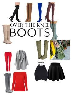"""""""Over The Knee Style"""" by mykira ❤ liked on Polyvore featuring Gianvito Rossi, Salsa, Les Copains, Romantica, Rebson, Topshop and Privileged"""