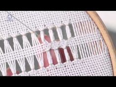 Learn How To Make a Double (Italian) Hem Stitch 3 Embroidery - Double (or Italian) hemstitch Tutorial With our tutorial videos we teach you the fundamentals of embroidery such as… Learn How To Cut a Buttonhole Edge on Evenweave. Embroidery Stitches Tutorial, Hardanger Embroidery, Sewing Stitches, Embroidery Techniques, Embroidery Patterns, Hand Embroidery, Machine Embroidery, How To Make Punch, Hem Stitch