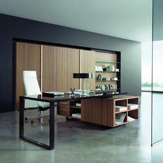 Executive desk / contemporary / metal / wood - PLANETA - CARAY