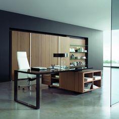 Executive desk / contemporary / metal / wood - PLANETA - CARAY