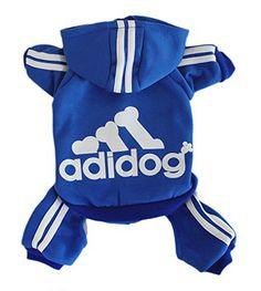 Scheppend Adidog Pet Clothes for Dog Cat Puppy Hoodies Coat Winter Sweatshirt Warm Sweater,Blue Large - http://www.thepuppy.org/scheppend-adidog-pet-clothes-for-dog-cat-puppy-hoodies-coat-winter-sweatshirt-warm-sweaterblue-large/