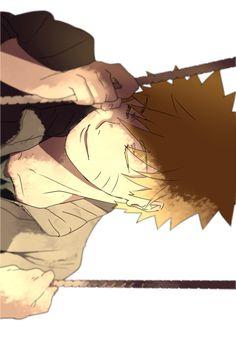 Naruto on his swing