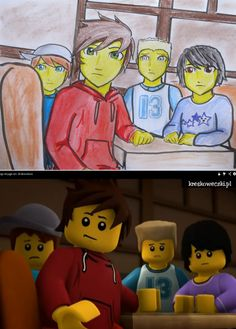 Ninjago - Anime scene 2# by Squira130.deviantart.com on @deviantART  THE NINJA DIDN'T HIT PUBERTY THEY MURDERED IT AND THREW IT OFF A CLIFF