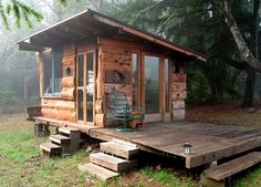 Off Grid Tiny House Deep In The Woods of Northern California - http://www.hgtvdecor.net/diy-ideas/off-grid-tiny-house-deep-in-the-woods-of-northern-california.html