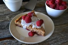 Breakfast pie!  Chai-Spiced Oatmeal Tart with Warm Coconut-Vanilla Sauce from An Unrefined Vegan.