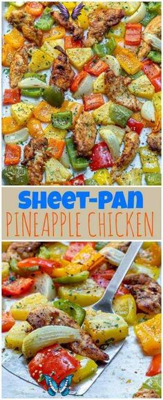 Sheet Pan Hawaiian Pineapple Chicken for Quick & Clean Weeknight... Sheet Pan Hawaiian Pineapple Chicken for Quick & Clean Weeknight Dinner!   Clean Food Crush<br> Sheet Pan Hawaiian Pineapple Chicken👙 Crazy delicious chicken pieces with tangy-lime, and sweet pineapple happening all over the place. It's moist, juicy, tender, and totally delicious! Try this savory and citrusy-sweet chicken on top of brown rice, and you've got a meal! I just want you to put... Clean Eating, Healthy Eating, Healthy Food, Healthy Recipes, Pineapple Chicken, Hawaiian Chicken, Food Crush, Cooking For Two, Yum Yum Chicken