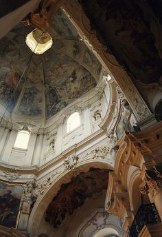 Nave of St. Nicolas - Baroque Church in Prague