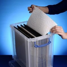 25 litre Really Useful Box with 10 12x12 inch suspension files & 12 x 12 paper storage ideas and solutions to keep your ... Aboutintivar.Com